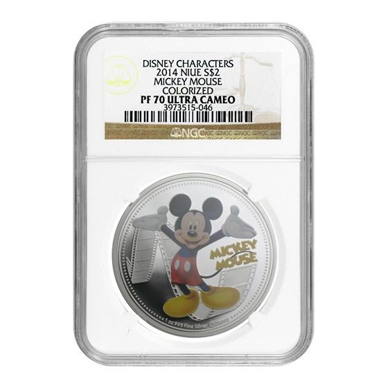 2014 Niue 1 oz Silver $2 Disney Mickey Mouse PF-70 NGC