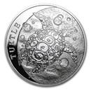 2014 Niue 1 oz Silver $2 Hawksbill Turtle