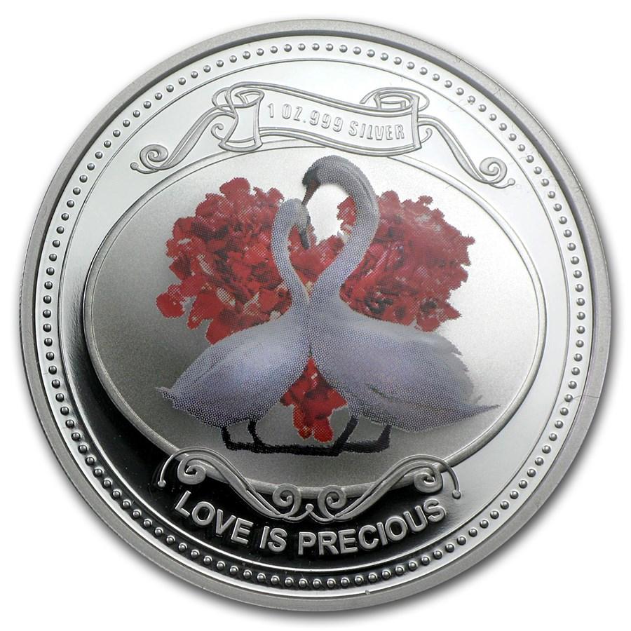 2014 Niue 1 oz Silver $2 Love is Precious Proof (w/Box & COA)
