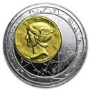 2014 Niue 3 oz Silver Fortuna Redux Mercury Cylinder Coin