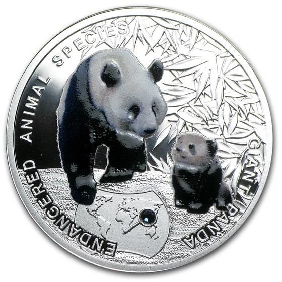 2014 Niue Proof Silver Endangered Animal Species Giant Panda