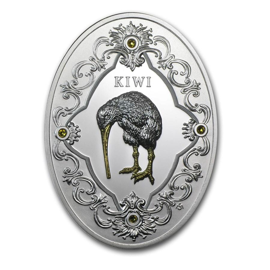 2014 Niue Proof Silver Royal Faberge Gift Kiwi