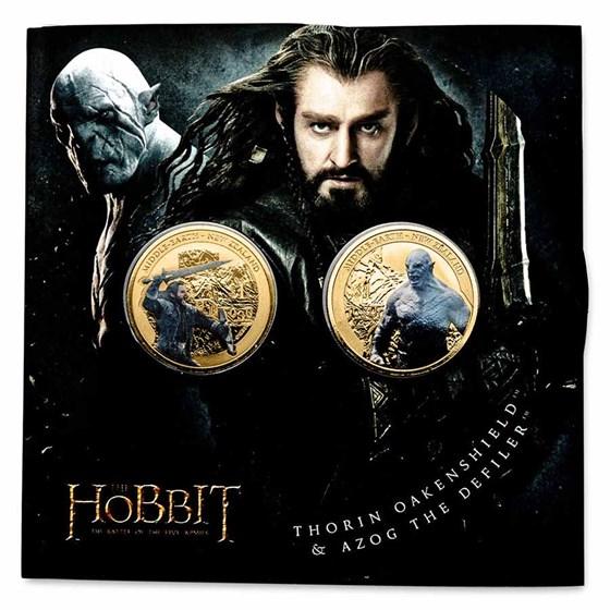 2014 NZL 20 gram The Hobbit: Battle of Five Armies 2-Coin Set BU