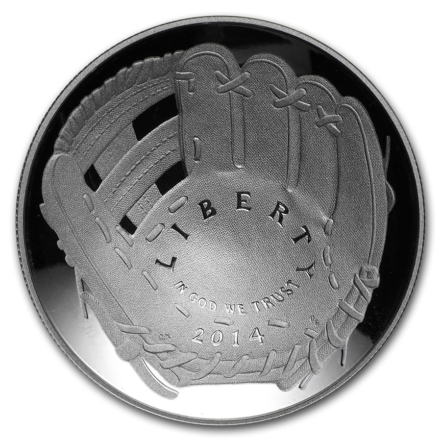 2014-P Baseball HOF $1 Silver Commem Proof (w/Box & COA)