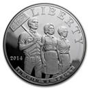2014-P Civil Rights of 1964 $1 Silver Commem PR (w/Box & COA)