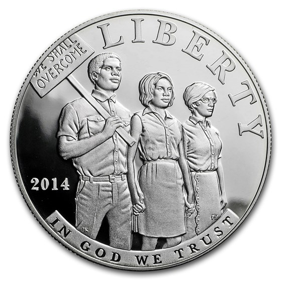 2014-P Civil Rights of 1964 $1 Silver Commem Proof (Capsule Only)
