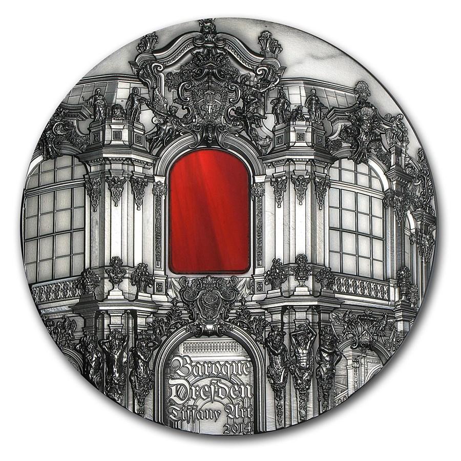 2014 Palau 1 kilo Silver Tiffany Art Baroque Dresden