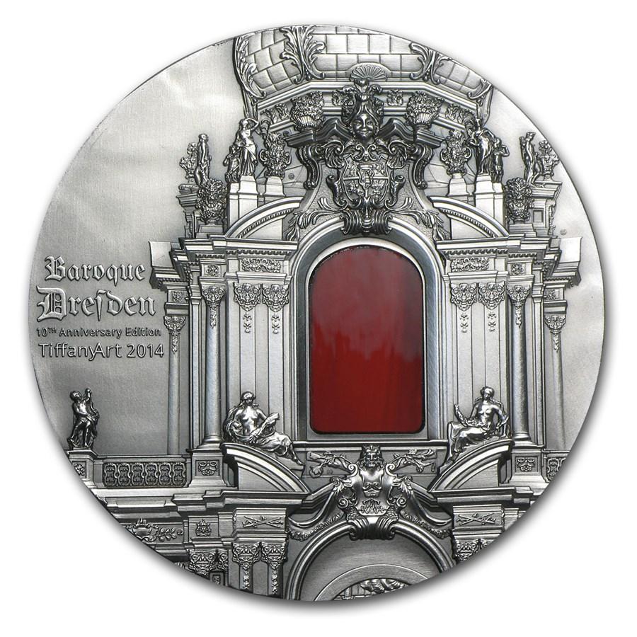 2014 Palau 2 oz Silver Tiffany Art Baroque Dresden