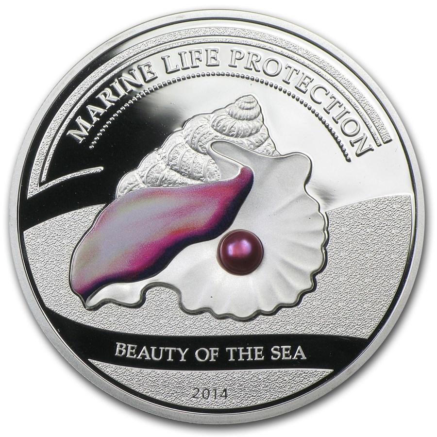 2014 Palau Silver $5 Marine Life Protection Beauty of the Sea