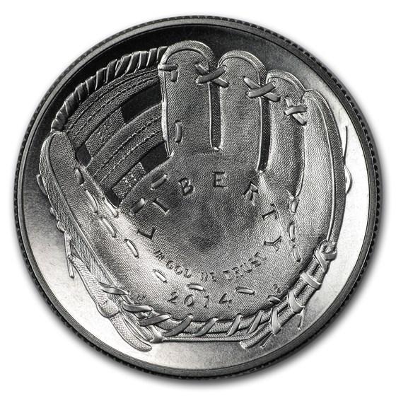 2014-S Baseball HOF 1/2 Dollar Clad Commem Proof (Capsule Only)