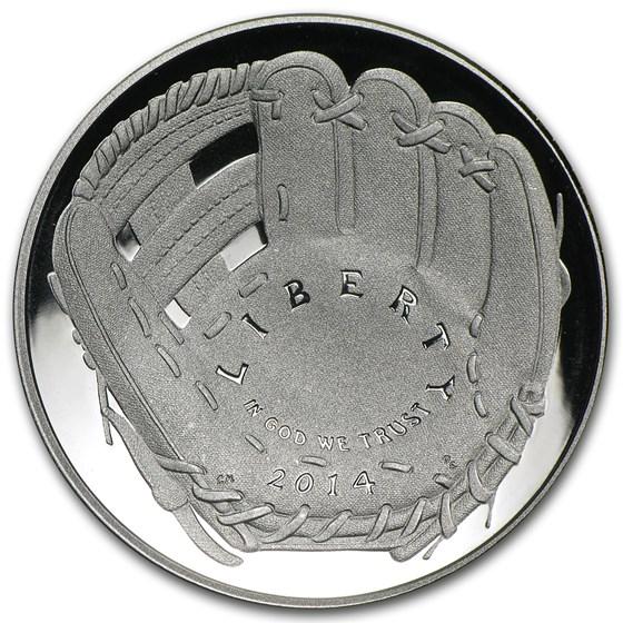 2014-S Baseball HOF 1/2 Dollar Clad Commem Proof (w/Box & COA)