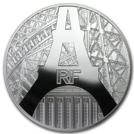 2014 Silver €10 Eiffel Tower & Palais de Chaillot Proof