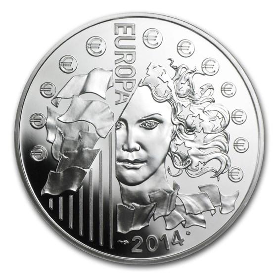 2014 Silver €10 Europa Series Prf (50th Anniv of European Space)
