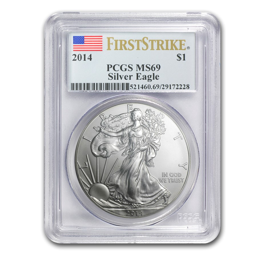 2014 Silver American Eagle MS-69 PCGS (FirstStrike®)