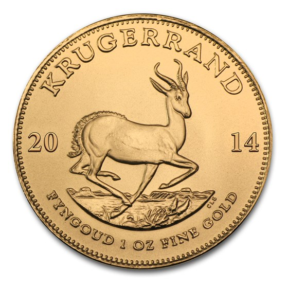 2014 South Africa 1 oz Gold Krugerrand BU