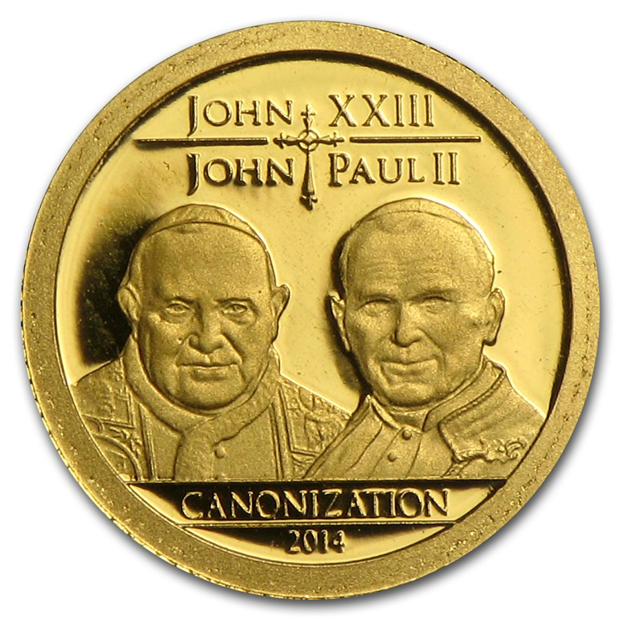 2014 Tanzania 1/2 gram Gold Canonization of the Popes