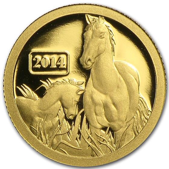 2014 Tokelau 1/2 gm Gold $5 Lunar Series Horse