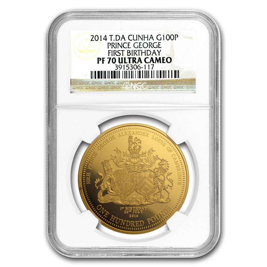 2014 Tristan Da Cunha Gold £100 Pound PF-70 NGC