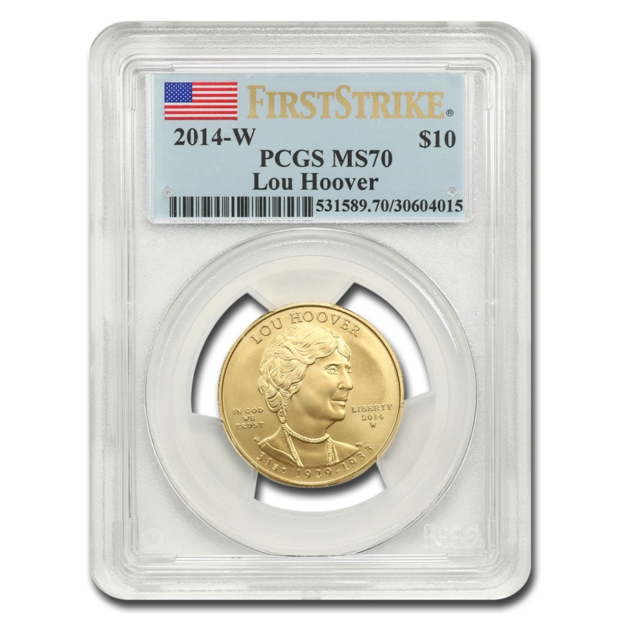 2014-W 1/2 oz Gold Lou Hoover MS-70 PCGS (First Strike)