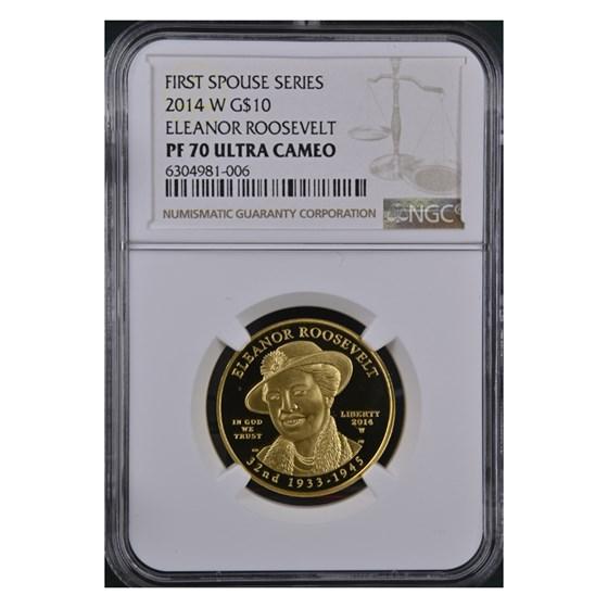 2014-W 1/2 oz Proof Gold Eleanor Roosevelt PF-70 NGC