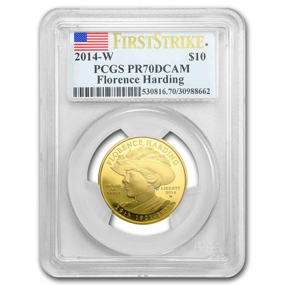 2014-W 1/2 oz Proof Gold Florence Harding PR-70 PCGS (FS)