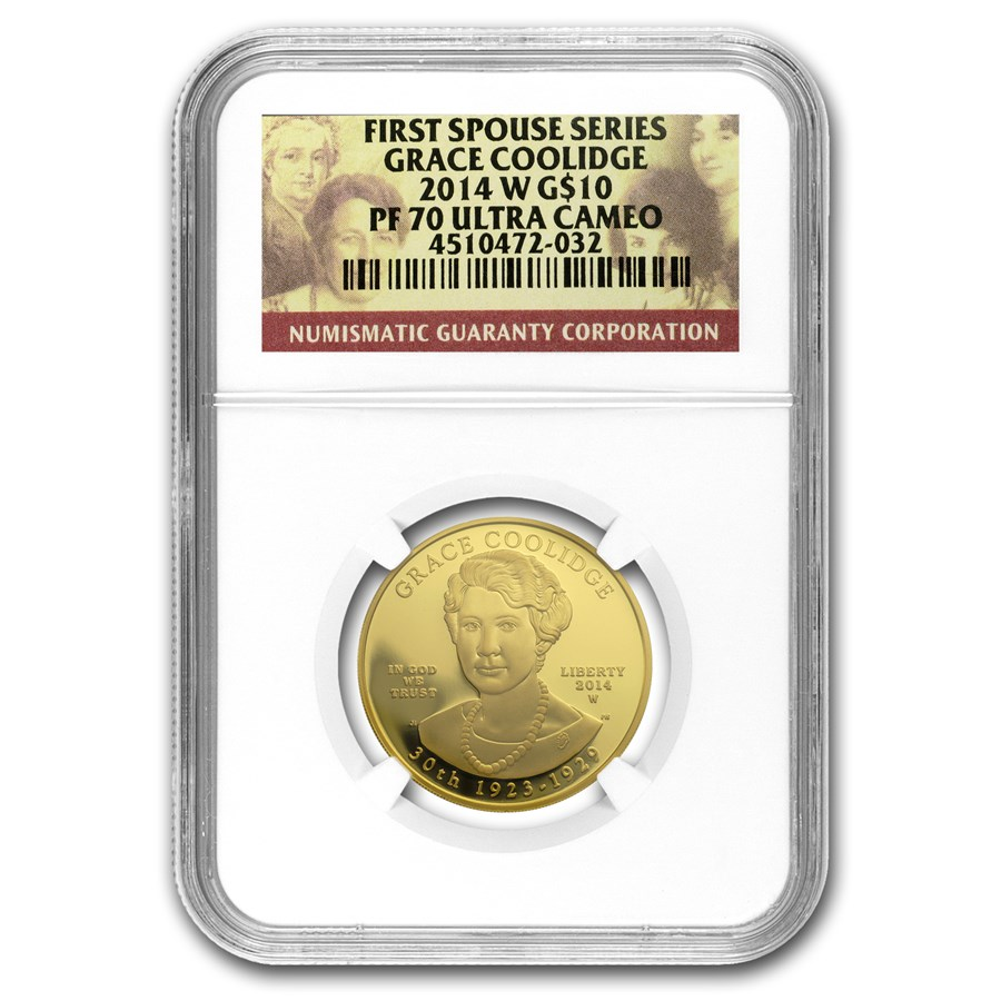 2014-W 1/2 oz Proof Gold Grace Coolidge PF-70 NGC