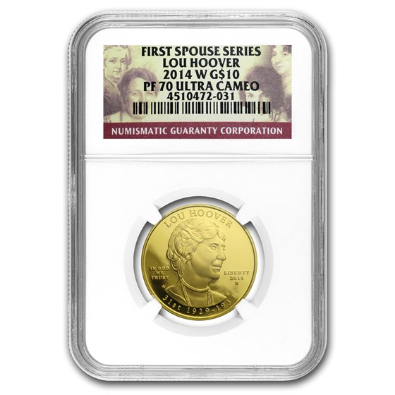 2014-W 1/2 oz Proof Gold Lou Hoover PF-70 NGC