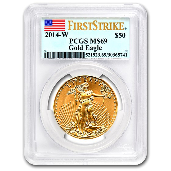 2014-W 1 oz Burnished Gold Eagle MS-69 PCGS (FirstStrike®)