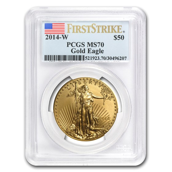 2014-W 1 oz Burnished Gold Eagle MS-70 PCGS (FirstStrike®)