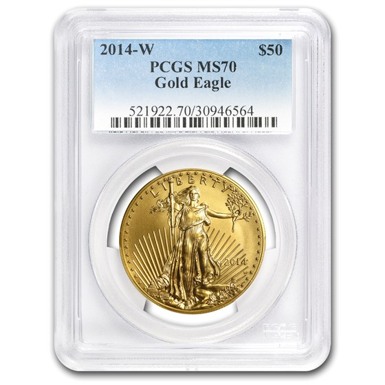 2014-W 1 oz Burnished Gold Eagle MS-70 PCGS