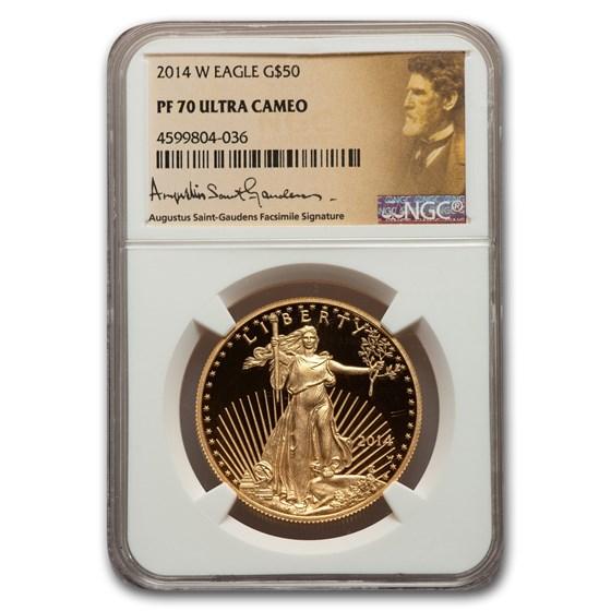2014-W 1 oz Proof American Gold Eagle PF-70 NGC (St Gaudens)