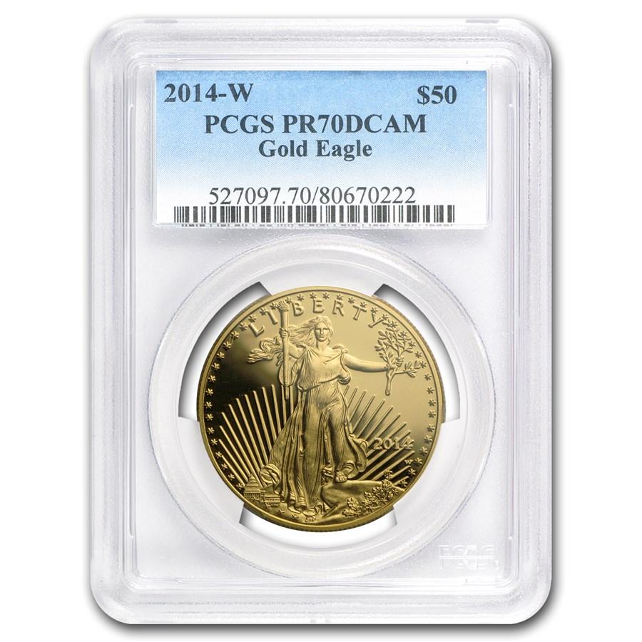 2014-W 1 oz Proof American Gold Eagle PR-70 PCGS
