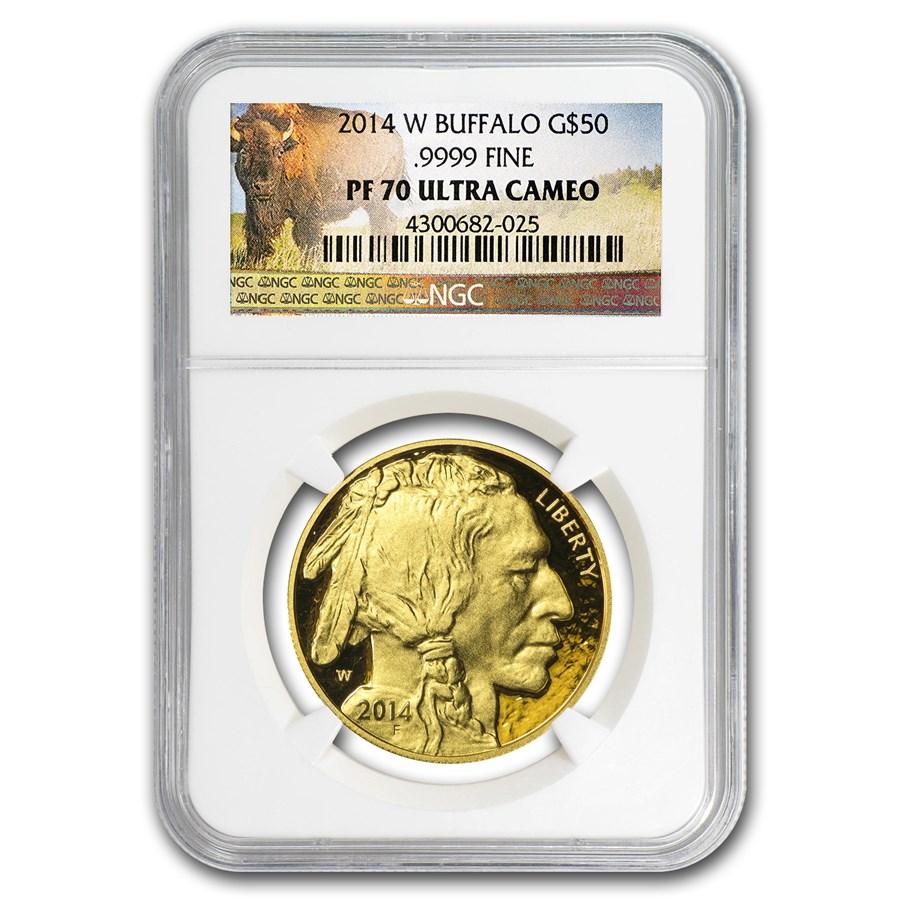 2014-W 1 oz Proof Gold Buffalo PF-70 NGC (Buffalo Label)