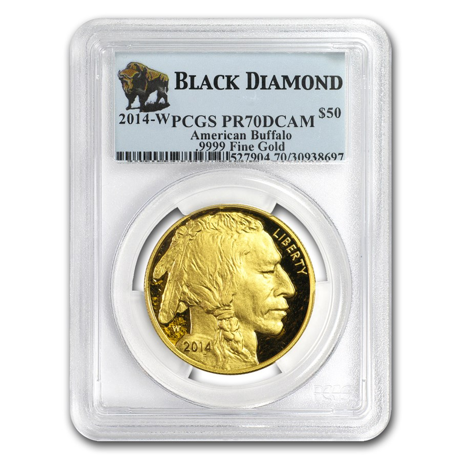 2014-W 1 oz Proof Gold Buffalo PR-70 PCGS (Black Diamond)
