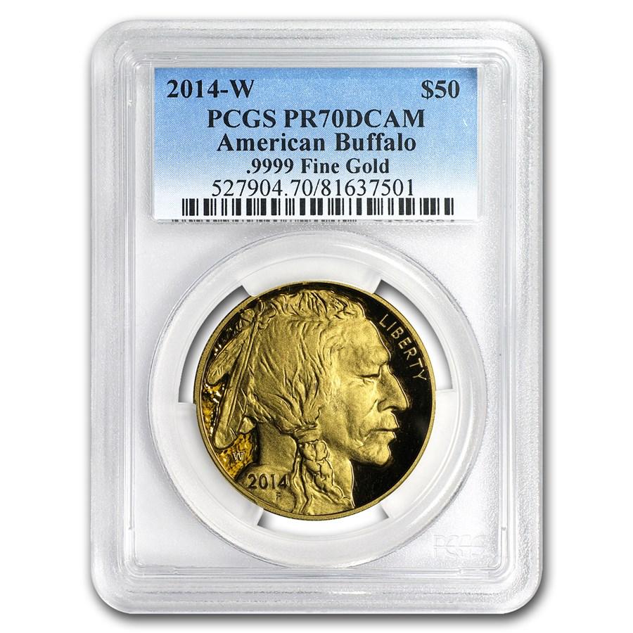 2014-W 1 oz Proof Gold Buffalo PR-70 PCGS
