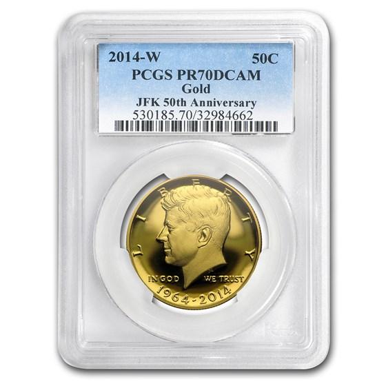 2014-W 3/4 oz Gold Kennedy 1/2 Dollar PR-70 PCGS