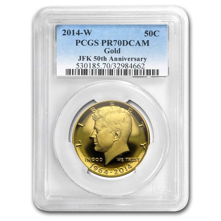 2014-W 3/4 oz Gold Kennedy Half Dollar Commem PR-70 PCGS