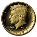 2014-W 3/4 oz Gold Kennedy Half Dollar Commem Proof (Capsule)