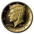 2014-W 3/4 oz Gold Kennedy Half Dollar Commem Proof (Capsule)