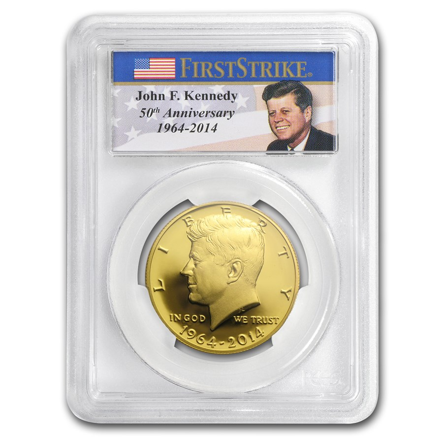 2014-W 3/4 oz Gold Kennedy Half Dollar PR-70 PCGS (FirstStrike®)