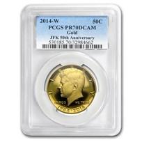 2014-W 3/4 oz Gold Kennedy Half Dollar PR-70 PCGS