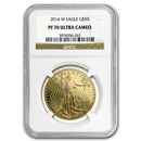 2014-W 4-Coin Proof American Gold Eagle Set PF-70 NGC