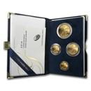2014-W 4-Coin Proof American Gold Eagle Set (w/Box & COA)