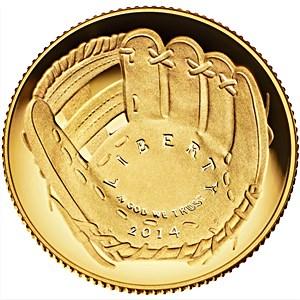 2014-W Gold $5 Commem Baseball HOF PR-69 PCGS (FS, First Pitch)