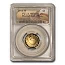 2014-W Gold $5 Commem Baseball HOF PR-70 PCGS
