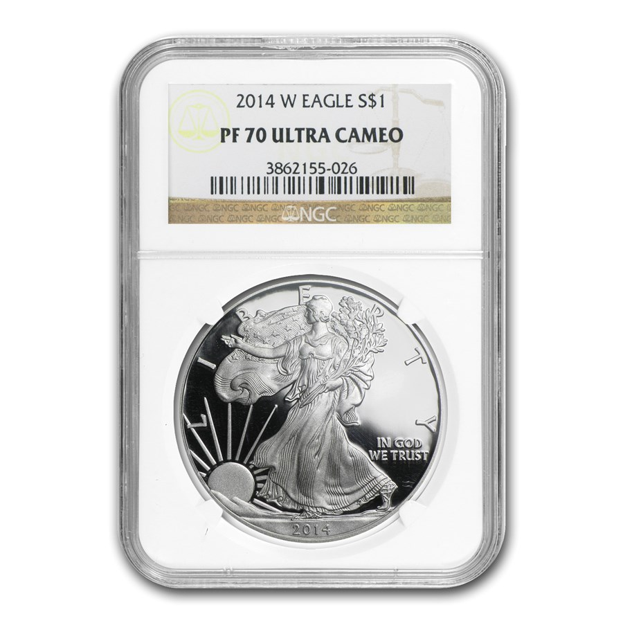 2014-W Proof American Silver Eagle PF-70 NGC