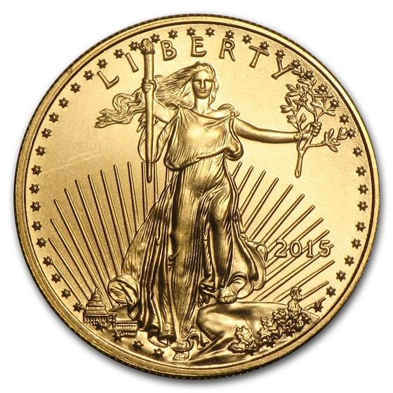 2015 1/10 oz American Gold Eagle BU (Narrow Reeds)