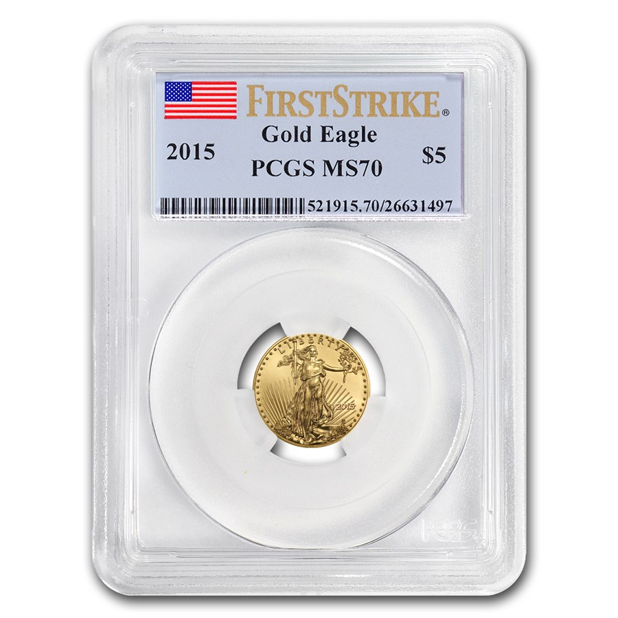 2015 1/10 oz American Gold Eagle MS-70 PCGS (FirstStrike®)