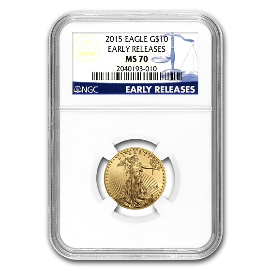 2015 1/4 oz American Gold Eagle MS-70 NGC (Early Releases)