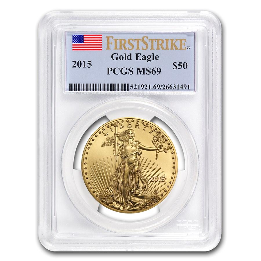 2015 1 oz American Gold Eagle MS-69 PCGS (FS)